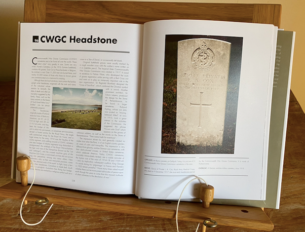 Commonwealth War Graves Headstone Double Page Spread