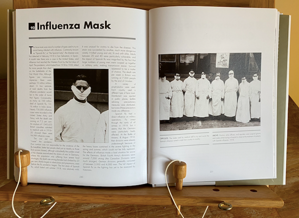 Influenza Mask Double Page Spread