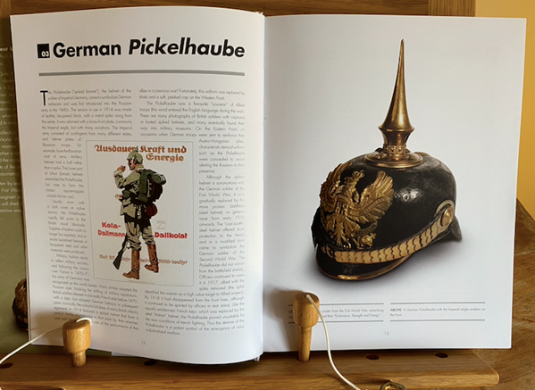 German Pickelhaube Helmet Double Page Spread