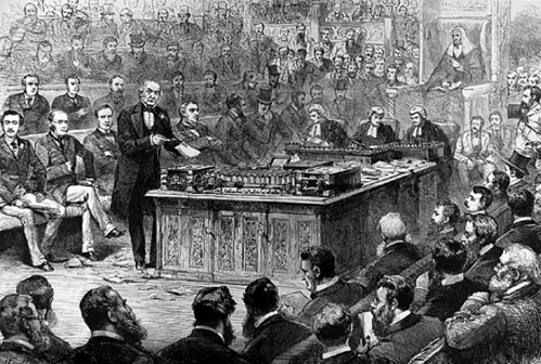 Gladstone at a debate on the Irish Home Rule Bill, 8 April 1886