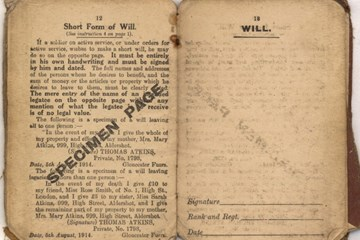 'In the event of my death': An analysis of what can be gleaned from soldiers wills