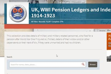 Announcing the launch of FREE member access to the digitised Pension Records
