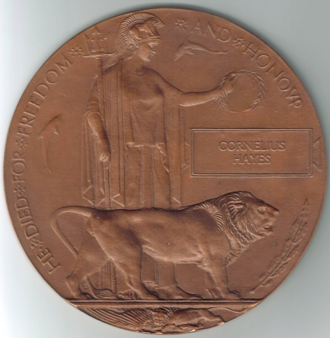 Figure 38. The 1914-18 Memorial Plaque (the 'widow's or dead-man's penny')