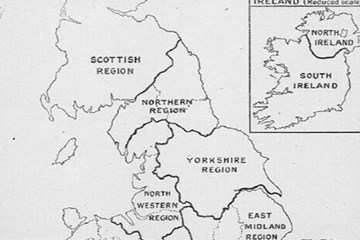 Index of counties within regions for Pension Records